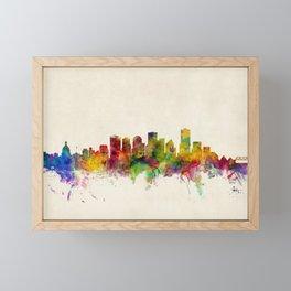 Edmonton Canada Skyline Framed Mini Art Print