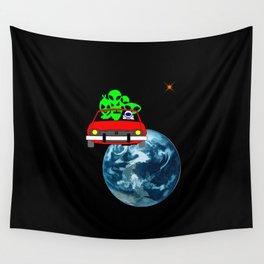 Ride to Mars selfie Wall Tapestry