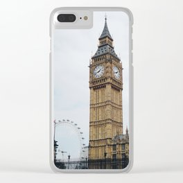 Rainy Day in London Clear iPhone Case