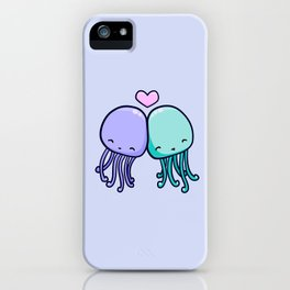 Cute jellyfish love iPhone Case