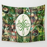 leah flores Wall Tapestries featuring Leah (#TheAccessoriesSeries) by Wayne Edson Bryan