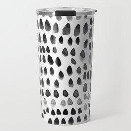 painted dots black Travel Mug