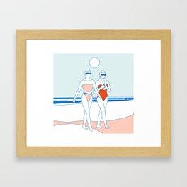 Edith y Bertha Framed Art Print