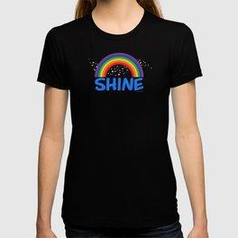 SHINE in blue T-shirt