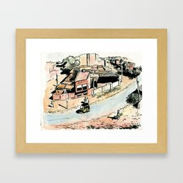 La rue - The street Framed Art Print