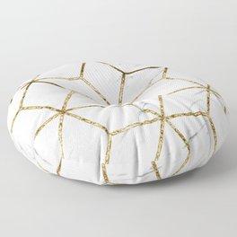 Gatsby golden marble Floor Pillow