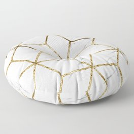 Gatsby golden marble Floor Pillow