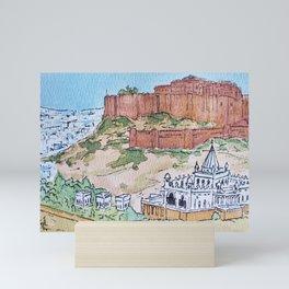 Mehrangarh and the Blue City Mini Art Print