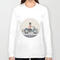 honda Long Sleeve T-shirts featuring Honda C-70 by Al Wrath Gallery