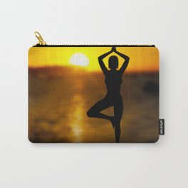 Yoga Female by the Ocean at Sunset Carry-All Pouch