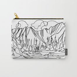 Ice Creek Lake, Valhallas :: Single Line Carry-All Pouch