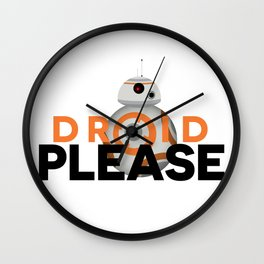 Droid Please Wall Clock