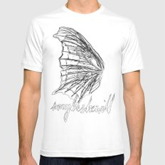 MSW Wing #01 Mens Fitted Tee White MEDIUM