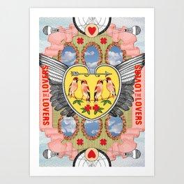 The Lovers Art Print