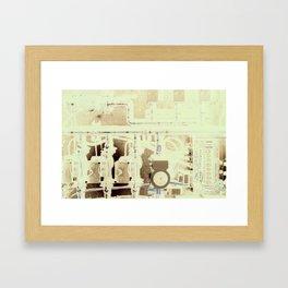 Geo Thermal  Framed Art Print
