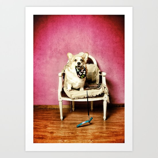 Who lets the dog out.....? Art Print