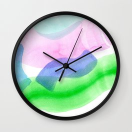 FLOW LIKE A RIVER no.11 minimalism minimalist art, abstract painting, colorful Wall Clock