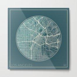 Los Angeles Map Planet Metal Print
