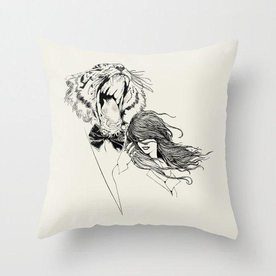 The Tiger's Roar Throw Pillow