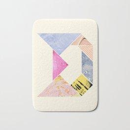 Tangram Alphabet - D Bath Mat