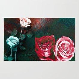 Roses Digital Art By Annie Zeno Rug