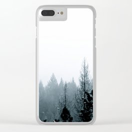 Cool Pines Clear iPhone Case
