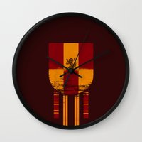 gryffindor Wall Clocks featuring gryffindor crest by nisimalotse