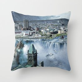 Earth Falls Away Throw Pillow