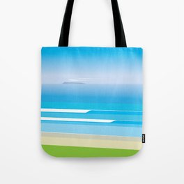 Sunny Beach — View from Omanu Beach Tote Bag