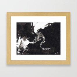 ink dragon Framed Art Print