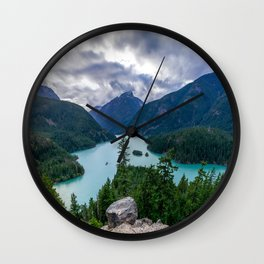 Crushing clouds Wall Clock