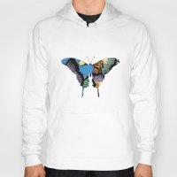 butterflies Hoodies featuring Butterflies by brushnpaper