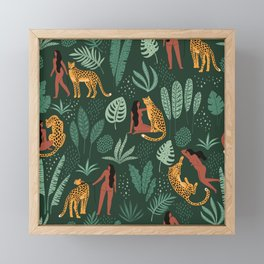 The Jaguar and I Version 3 Framed Mini Art Print