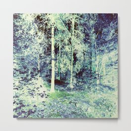 Blue Green Forest Metal Print