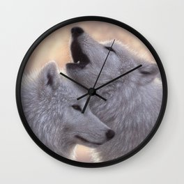 Wolves Howling Moon - Love Song Wall Clock