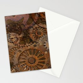 Changing Gear - Steampunk Gears & Cogs Stationery Cards