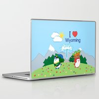 coraline Laptop & iPad Skins featuring Ernest and Coraline | I love Wyoming by Hisame Artwork