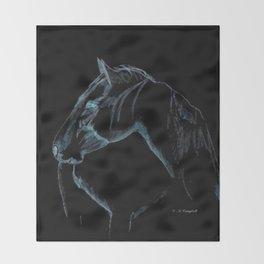 """"""" Black Stallion """" Throw Blanket"""