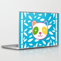 murakami Laptop & iPad Skins featuring Rainbow Panda by XOOXOO