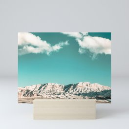 Vintage Desert Snowcaps // Sandy Mojave Covered in Snow at Red Rock Canyon National Park Nature Mini Art Print