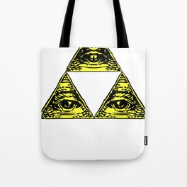 all seeing triforce Tote Bag