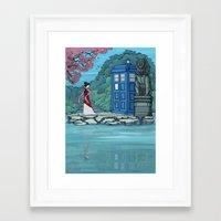 hallion Framed Art Prints featuring Cannot Hide Who I am Inside by Karen Hallion Illustrations