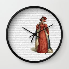 Pride & Prejudice Wall Clock