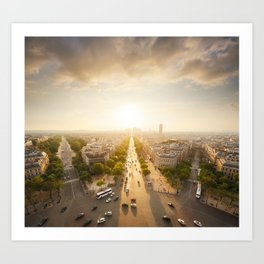 Champs Elysees From the Top Art Print