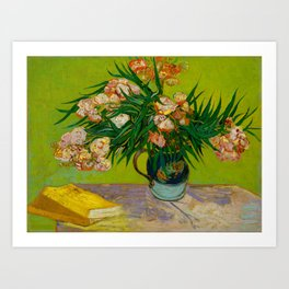 Oleanders Vincent van Gogh Oil On Canvas Floral Still Life Painting Art Print