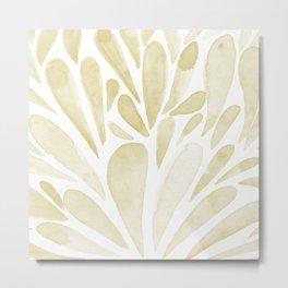 Watercolor artistic drops - yellow Metal Print