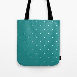 dots lightblue on dark cyan Tote Bag