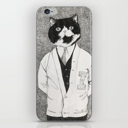 Varsity Cat iPhone Skin