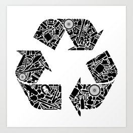 Recycling is Cool Art Print