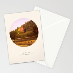 i think of you in colors that don't exist Stationery Cards